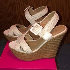 Brand new - Women's white Charlotte Russe wedges